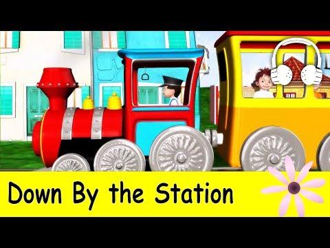 Muffin Songs – Down By The Station Tekerlemeler ve İngilizce Çocuk Şarkıları