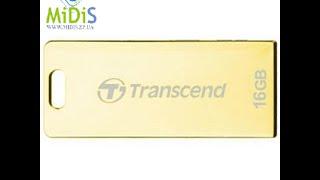 Распаковка: Накопитель USB-флэш USB 2.0 Transcend 16 Gb 520 Golden Plating (TS16GJF520G)