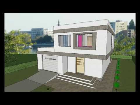 MODEL E-7 by AQ DOO, Spratna porodična kuća modernih linija - četiri sobe. 207 m2