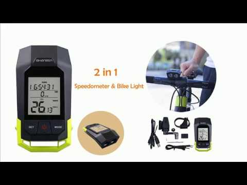 Best Top Bike Computer & Front Light  2in1 2017  Installation  for MTB Bike
