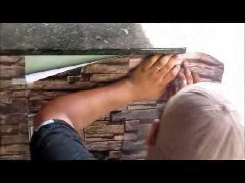 Como aplicar papel de parede autoadesivo