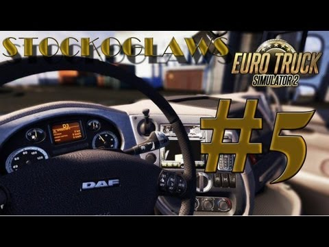 Lets Play Euro Truck Simulator 2 - Ep 05 (Off to Manchester ! )