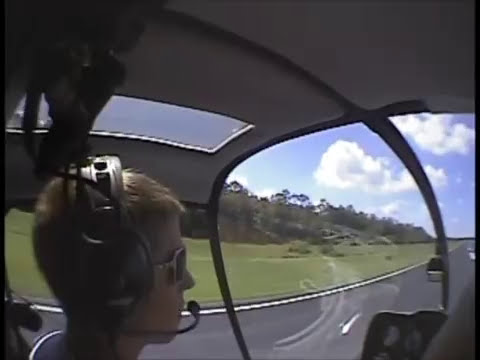 Part #2 of Hunter's Full-down Autorotation Training in the R22
