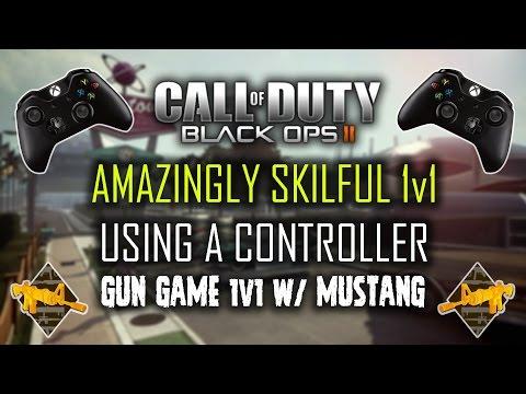 BO2: 1v1 USING A CONTROLLER | Gun-Game on Nuketown w/ AlenMustang