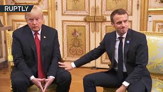 Bromance still alive? Trump receives 'touching' welcome at Elysee Palace - RUSSIATODAY