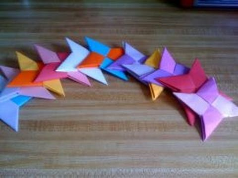 Paper Crafts: How to Make a Paper Shuriken (Ninja Throwing Star) [Part 1/2]