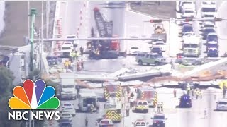 Fatalities Reported In Florida Pedestrian Bridge Collapse | NBC News - NBCNEWS
