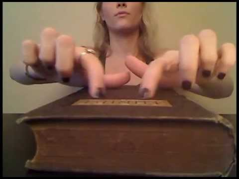 Tapping Scratching Caressing - Desk & Vintage Book - ASMR