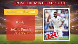IPL Auction 2019 : Mohammed Shami Goes To KXIP For Rs 4.8 Crore   ABP News - ABPNEWSTV