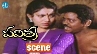 Pavitra Movie Scenes - Pavitra Gifts A Dress To Kittaiah || Rajendra Prasad, Bhanupriya - IDREAMMOVIES