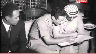 فيلم تسجيلي نادر يجمع بين عبدالناصر وعرفات والسادات