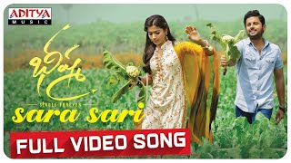 Sara Sari Full Video Song | Bheeshma Video Songs | Nithiin, Rashmika | Mahati Swara Sagar - ADITYAMUSIC
