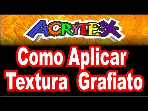 Video aula da Acrytex  como aplicar textura rústica ou grafiato 2207-2705