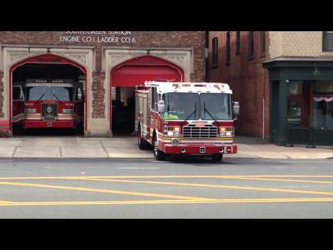 Hartford Fire Department Engine 1 Responding To An EMS Call