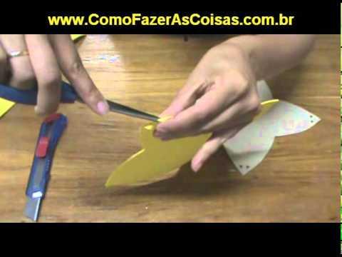 Como fazer um cestinha de EVA para usar em lembrancinhas
