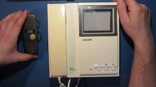 Ремонт видеодомофона KOCOM KVM-524. Отсутствует вызывной сигнал. А так же немного теории...