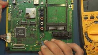 Ремонт ЖК телевизора Panasonic TX-LR39EM5A. Не включается.