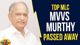 MVVS Murthy TDP leader and Director of GITAM University has Road Demise in Mishap at US | Mango News - MANGONEWS
