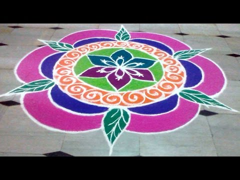 Muggulu new year 2015 colorful rangoli designs youtube - Related Video