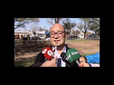 """UN PLAYÃ""""N Y NUEVAS VEREDAS PARA LA PLAZA MALVINAS ARGENTINAS DE BARRIO LOS HORNOS"""