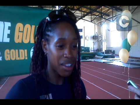 USA Track & Field long jumper Janay DeLoach thanks fans in Fort Collins