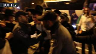 Police clashes with ultra-Orthodox protesters result into 22 arrests - RUSSIATODAY