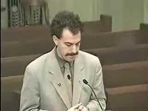 Borat at the Oklahoma City Traffic Commission 1 of 2 