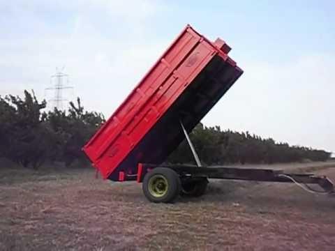 Καρότσα ανατροπή για τρακτέρ 6 τόνους