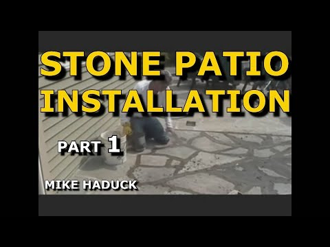 How I install a stone patio, with cement (Part 1 of 2) Mike Haduck, Pennsylvania