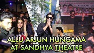 Allu Arjun Hungama At Sandhya Theatre Ala Vikuntapuramlo | #alluarjun | #poojaheggde - IGTELUGU