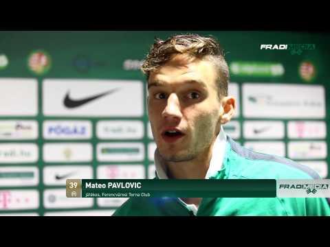 FM | FTC-Nyíregyháza 3-1 után - Interjú Mateo Pavloviccsal | 2014.08.25.