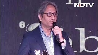 "NDTV And Its Journalism Stands Apart From ""The Bheed"": Ravish Kumar's Speech - NDTV"