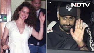 Celeb Spotting: Kangana Ranaut, Abhishek Bachchan & Others - NDTV