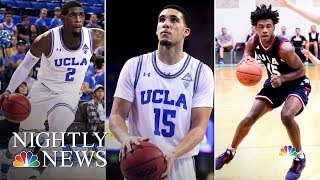 UCLA Athletes Thank Donald Trump For Their Release | NBC Nightly News - NBCNEWS