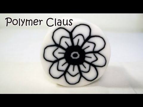 Millefiori Cane: Fiorellino Ragnatela  (polymer clay tutorial)