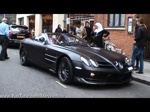 Matte Black Mercedes Slr Mclaren 722S Roadster