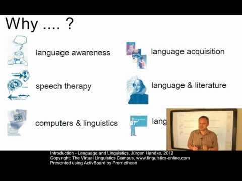 Introduction - Language and Linguistics
