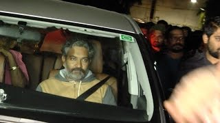 SS Rajamouli at Bramaramba Theater to Watch Gautamiputra Satakarni | TFPC - TFPC
