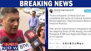 Congress Leader Randeep Surjewala Attacks Modi Government Over Arvind Subramanian Resignation - TIMESNOWONLINE