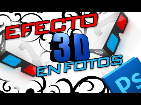 Tutorial de Photoshop : Crear efecto 3D para usar lentes , Azul y Rojo / Espaol y Gratis