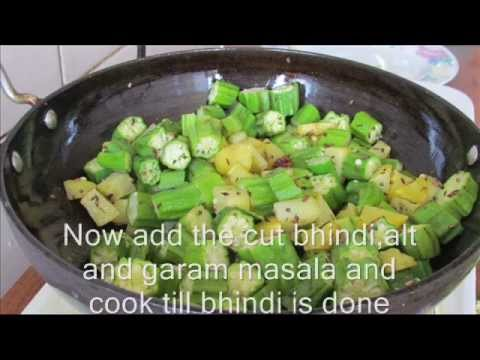 Bhindi Curry Recipe, Desi Gravy Bheendi, Ladyfinger Cury, Lady Finger Dish, Indian Bhindi Sabji