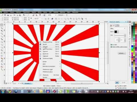 Dai-Nippon Teikoku Kaigun - Imperial Japanese Navy flag - how to draw in Corel Draw