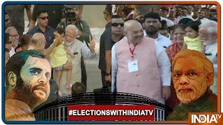 Lok Sabha Elections 2019: PM Modi showers love on Amit Shah's granddaughter - INDIATV