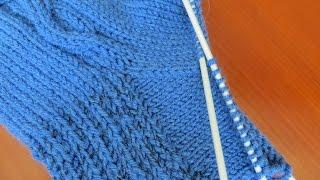 Как вязать клин подъема носка  Вариант 1