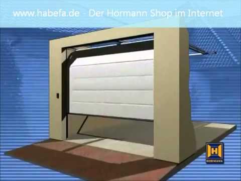 Pose porte sectionnelle hörmann garagentore