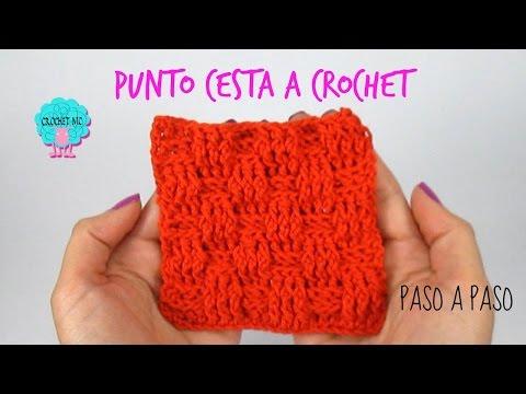 Tutorial punto cesta a crochet