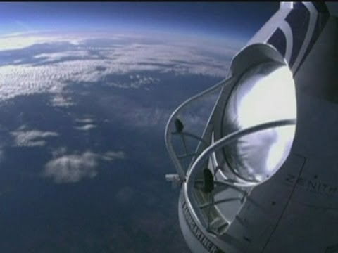 El histrico salto de Felix Baumgartner