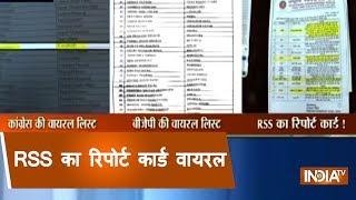 Madhya Pradesh: RSS report card goes viral - INDIATV