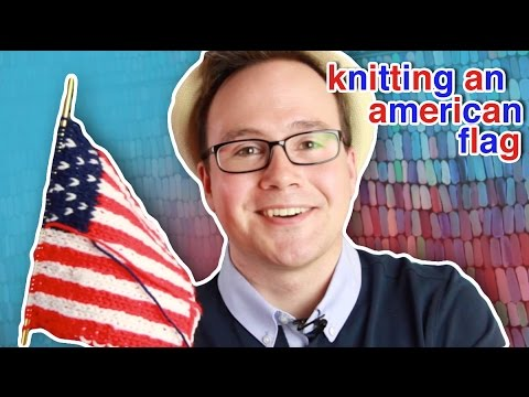 Knitting a Reversible Flag: How to Double Knit a Flag