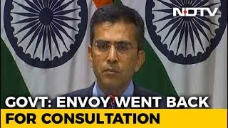 'Routine' Says India On Pak Calling Back Envoy Over Alleged Harassment - NDTV